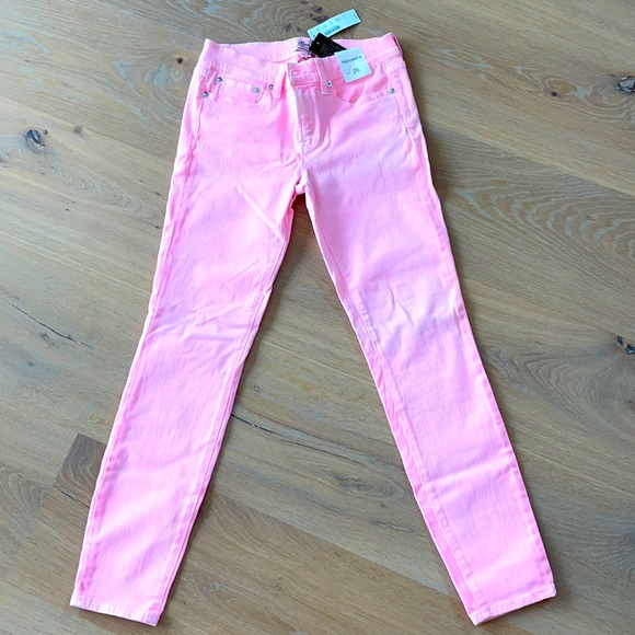 J Crew pink toothpick jeans! Never been worn with tags attached!